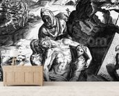 Pieta, engraved by Alberti Cherubino (engraving) wall mural living room preview