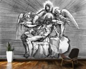 Pieta, engraved by Giulio Sanuto (engraving) wallpaper mural kitchen preview