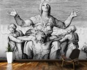 Pieta, engraved by Giulio Bonasone, 1556 (engraving) mural wallpaper kitchen preview