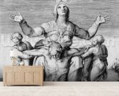 Pieta, engraved by Giulio Bonasone, 1556 (engraving) mural wallpaper living room preview