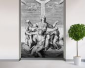 Pieta, engraved by Giulio Bonasone, 1556 (engraving) mural wallpaper in-room view