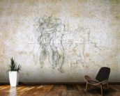 Study for the Last Judgement (graphite on paper) wallpaper mural kitchen preview