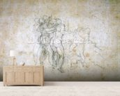 Study for the Last Judgement (graphite on paper) wallpaper mural living room preview