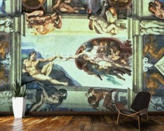 Sistine Chapel - Creation of Adam Mural Wallpaper Wallpaper Wall Murals