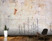 Drawing of an Urn and Figure with Notes (brown ink & pencil on paper) (verso) wallpaper mural kitchen preview