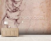 Study of torso and buttock (charcoal on paper) (recto) wall mural living room preview
