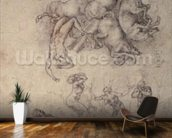 The Fall of Phaethon, 1533 (pencil on paper) mural wallpaper kitchen preview