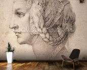 Study of Head (pencil on paper) wall mural kitchen preview