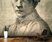 Portrait of Andrea Quaratesi, c.1532 (black chalk on paper) wallpaper mural kitchen preview
