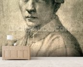 Portrait of Andrea Quaratesi, c.1532 (black chalk on paper) wallpaper mural living room preview