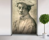 Portrait of Andrea Quaratesi, c.1532 (black chalk on paper) wallpaper mural in-room view