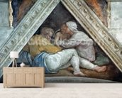 Sistine Chapel Ceiling: The Ancestors of Christ (pre restoration) wall mural living room preview