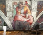 Sistine Chapel Ceiling: The Prophet Jeremiah (pre resoration) mural wallpaper kitchen preview