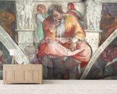 Sistine Chapel Ceiling: The Prophet Jeremiah (pre resoration) mural wallpaper living room preview