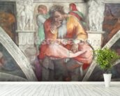 Sistine Chapel Ceiling: The Prophet Jeremiah (pre resoration) mural wallpaper in-room view