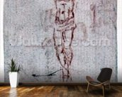 Christ on the Cross (red chalk on paper) mural wallpaper kitchen preview