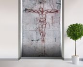 Christ on the Cross (red chalk on paper) mural wallpaper in-room view