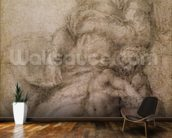 The Virgin and Child with the infant Baptist, c.1530 (black chalk on paper) wall mural kitchen preview