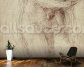 Madonna and Child (black chalk on paper) wall mural kitchen preview