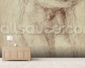 Madonna and Child (black chalk on paper) wall mural living room preview