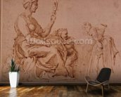 Study of Vanity (red chalk on paper) wallpaper mural kitchen preview