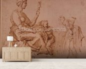 Study of Vanity (red chalk on paper) wallpaper mural living room preview