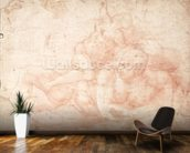 Study of a Male and Female Nude (red chalk on paper) mural wallpaper kitchen preview