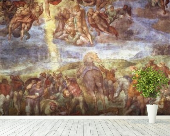Conversion of St. Paul (fresco) wall mural room setting