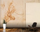 Study of a Female Nude (ink on paper) wallpaper mural kitchen preview