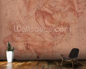 Studies of Nudes (red chalk on paper) wallpaper mural kitchen preview