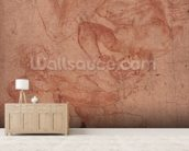 Studies of Nudes (red chalk on paper) wallpaper mural living room preview