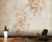 Studies of Madonna and Child (ink on paper) wallpaper mural kitchen preview
