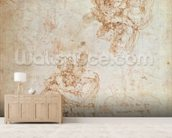 Studies of Madonna and Child (ink on paper) wallpaper mural living room preview