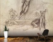 Study for an Ascension (pencil on paper) wallpaper mural kitchen preview
