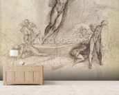 Study for an Ascension (pencil on paper) wallpaper mural living room preview
