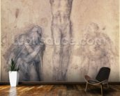 Inv.1895-9-15-509 Recto W.81 Study for a Crucifixion (pencil & chalk on paper) wall mural kitchen preview
