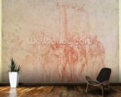 Inv. 1895 6-15-500. R. (W.15) The Flagellation of Christ (red chalk on paper) wall mural kitchen preview