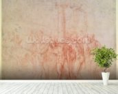 Inv. 1895 6-15-500. R. (W.15) The Flagellation of Christ (red chalk on paper) wall mural in-room view