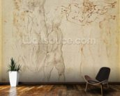 Male group and seated figure with child (pen & ink, charcoal) wallpaper mural kitchen preview