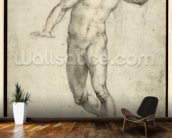 Study for The Last Judgement (W.54 recto) (pencil on paper) wallpaper mural kitchen preview