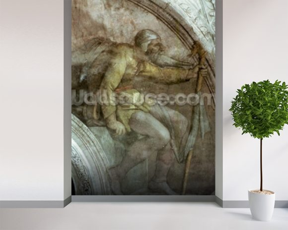 Sistine Chapel Ceiling: One of the Ancestors of God mural wallpaper room setting