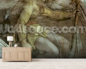 Sistine Chapel Ceiling: One of the Ancestors of God mural wallpaper living room preview