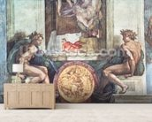 Sistine Chapel Ceiling: Ignudi (pre restoration) wall mural living room preview