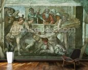 Sistine Chapel Ceiling: Noah After the Flood (pre restoration) mural wallpaper kitchen preview