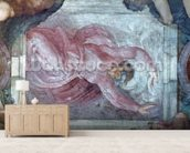 Sistine Chapel Ceiling: God Dividing Light from Darkness (pre restoration) wall mural living room preview