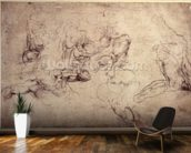 W.61v Male figure studies (pencil on paper) wall mural kitchen preview