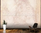 W.40 Sketch of a female figure mural wallpaper kitchen preview