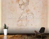 W.41 Sketch of a woman wall mural kitchen preview