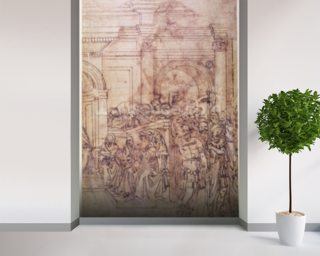 Buonarroti wall murals buonarroti wallpaper wallsauce usa for Audience wall mural