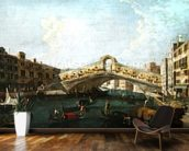 The Rialto in Venice (oil on canvas) wall mural kitchen preview